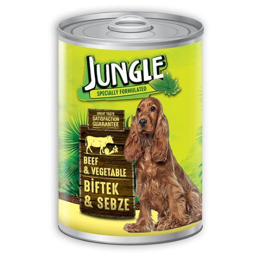 Jungle Biftekli Sebzeli Köpek Konservesi 415 Gr resmi