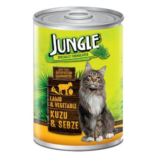 Jungle Kedi Kuzu Etli Sebzeli Konserve 415 Gr resmi