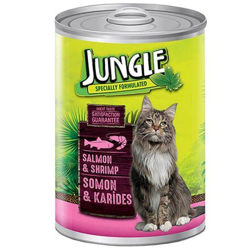 Jungle Kedi Somon Karides Konserve 415 Gr resmi