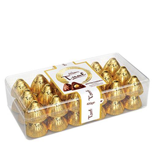 Şölen Tual Bütün Fındıklı Krema Dolgulu Sütlü Çikolata 400 Gr resmi