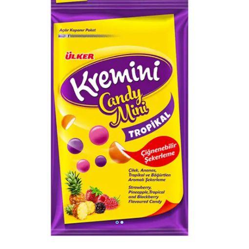Ülker Kremini Candy Mini Tropikal Meyveli Şeker 30 G resmi