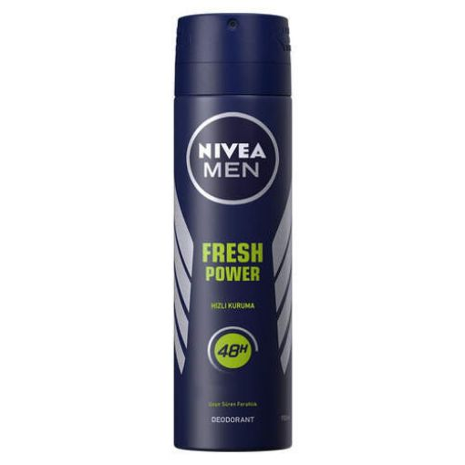 Nivea Men Fresh Power Deodorant Sprey 150Ml resmi