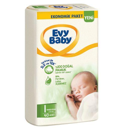 Evy Baby Bebek Bezi Yenidoğan 1 Beden Jumbo resmi