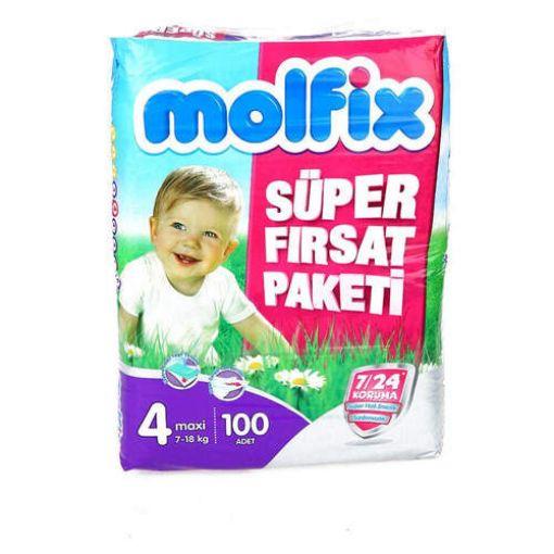 Molfix Aylık Fırsat Beden 4 (7-14Kg) Maxi 76 Adet Bebek Bezi resmi