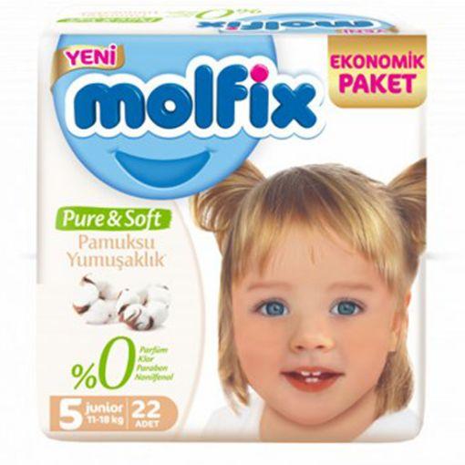 Molfix Pure Soft Bebek Bezi 5 Beden 11/18Kg22 Adet resmi
