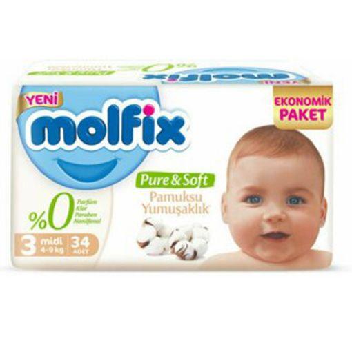 Molfix Pure Soft 3 Midi 34 Adet resmi