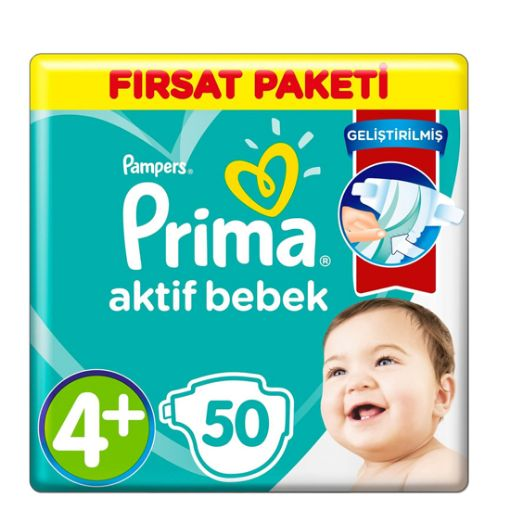 Prima Fırsat Paket 4 + Beden 50  Lı Maxı Plus resmi