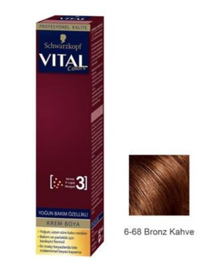 Vıtal Colors Tup Saç Boyası  6-68 Bronz Kahve resmi
