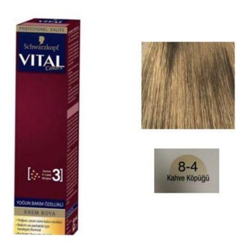 Vıtal Colors Tup Saç Boyası 8-4 Kahve Köpüğü resmi