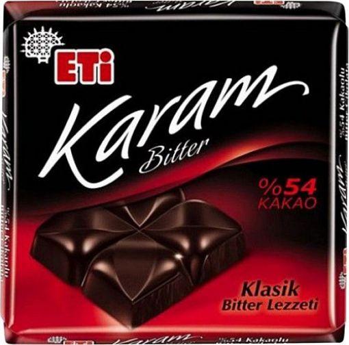 Etı Cık.Kare Karam Bıtter 60 Gr %54 Kakao 2759 resmi