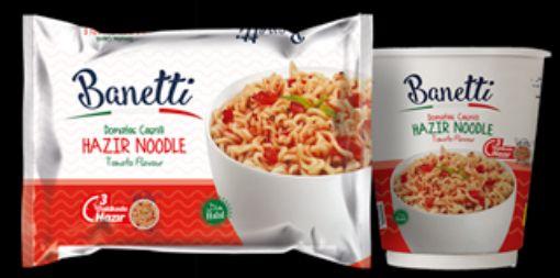 Banettı Noodle Bardak 65 Gr Domateslı resmi