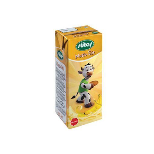 Sütaş Muzlu Süt 180 Ml resmi