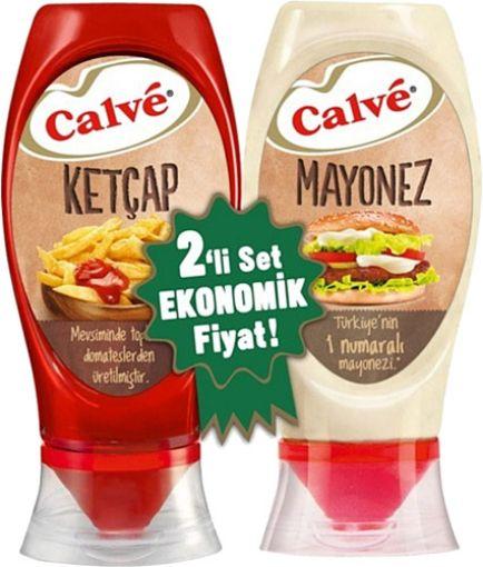 Calve Set Ketcap 400 Gr /Mayonez 350 Gr Tatlı resmi