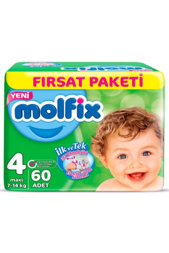 Molfix Dev Beden 4 (7-14Kg) Maxi 60 Adet Bebek Bezi resmi