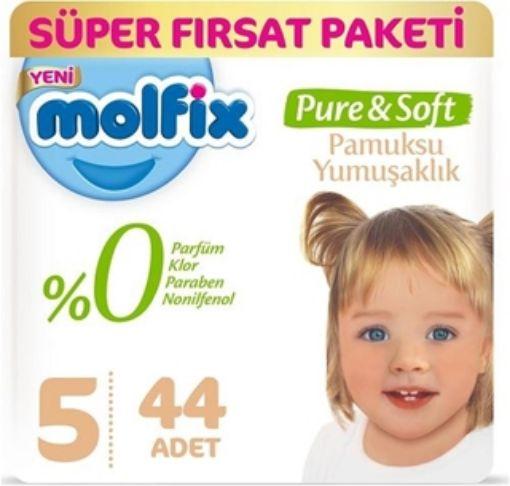 Molfix Pure Soft Bebek Bezi Junior 44 Adet (5) resmi
