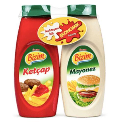 Bızım Ketcap 400 Gr+Mayonez  330 Gr 5681-01 resmi