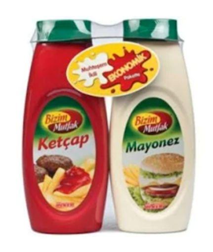 Bızım Ketcap 600 Gr+Mayonez 540 Gr 5681-00*** resmi
