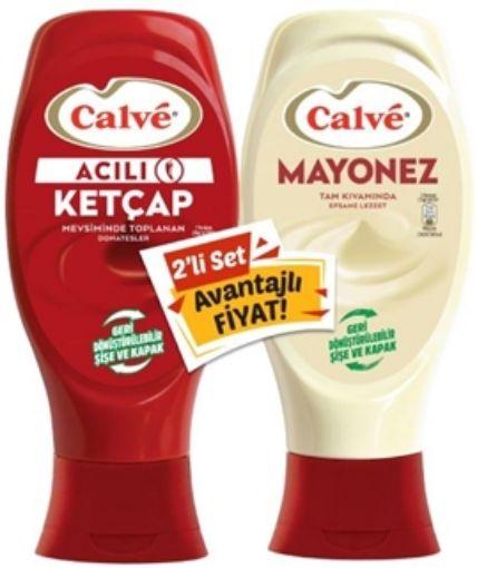 Calve Set Ketcap 400 Gr /Mayonez 350 Gr Acı resmi