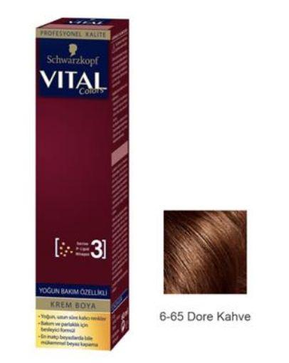 Vıtal Colors Tup Saç Boyası 6-65 Dore Kahve resmi