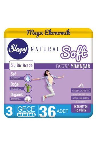 Sleepy Natural Ped Mega Soft Gece 36 Lı resmi