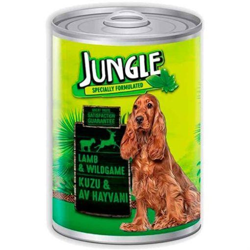 Jungle Köpek Kuzu Etli Konserve 415 Gr resmi