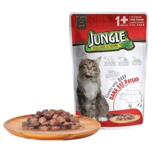 Jungle Kedi 415 Gr Biftekli Konserve resmi