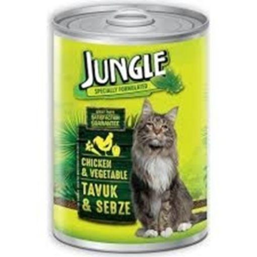 Jungle Tavuk Etli Sebzeli Kedi Konservesi 415 Gr resmi