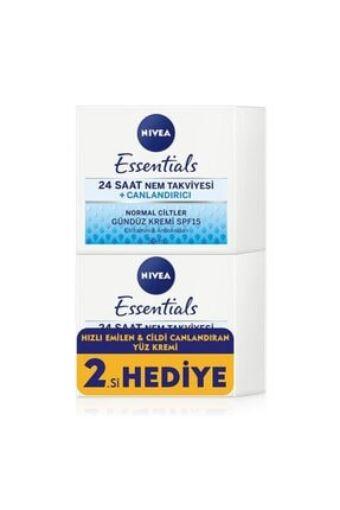Nivea Essentials 24 Saat Nem Takviyesi Canlandırıcı Krem 50Ml Normal 2.Si Hedye resmi