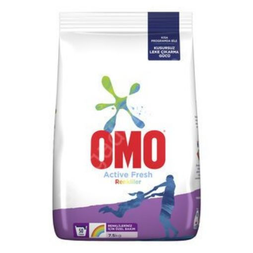 OMOMATIK 7.5 KG ACTIVE FRESH RENKLI resmi