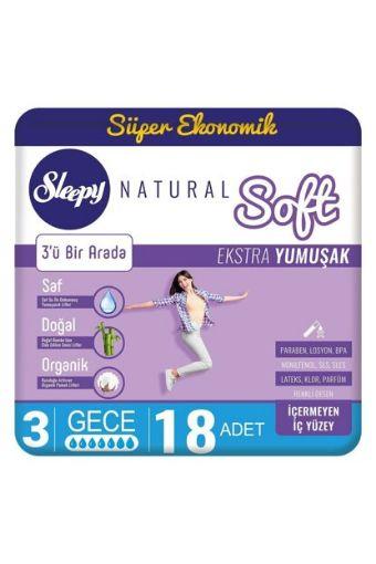 Sleepy Natural Ped Eko Soft Gece 18 Lı resmi