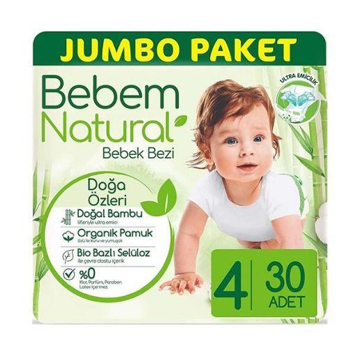 BEBEM NATURAL JUMBO 4 MAXI 30' LU resmi
